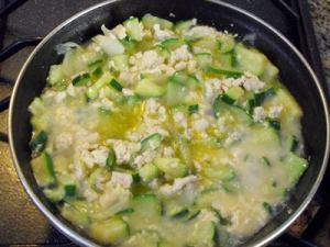 zucchine cipolla tofu