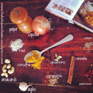 ingredienti riso basmati e anacardi vegan