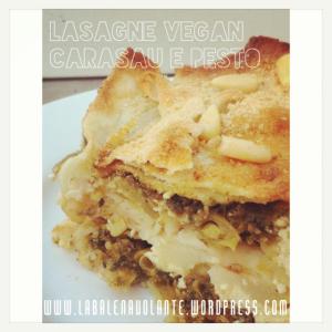 lasagne vegan balenavolante carasau e pesto